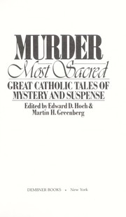 Cover of: Murder most sacred