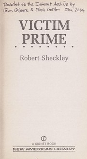 Cover of: Victim Prime