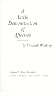 Cover of: A little demonstration of affection