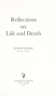Cover of: Reflections on life and death
