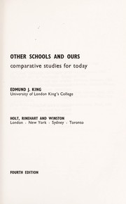 Cover of: Other schools and ours | Edmund James King