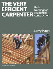 Cover of: The Very Efficient Carpenter