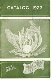Cover of: Catalog 1922 [of] seeds, dahlias, perennials