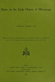 Cover of: Notes on the early history of microscopy