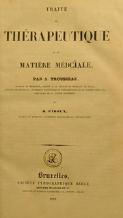Cover of: Trait©♭ de th©♭rapeutique et de mati©·re m©♭dciale [sic]