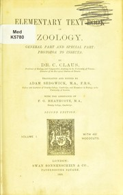 Cover of: Elementary text-book of zoology