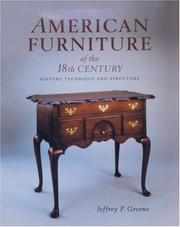 Cover of: American furniture of the 18th century