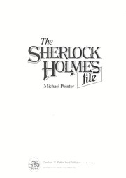 The Sherlock Holmes file by Michael Pointer