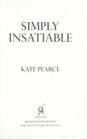 Cover of: Simply Insatiable |