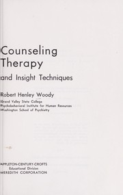 Cover of: Psychobehavioral counseling and therapy