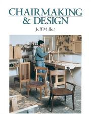 Cover of: Chairmaking & design
