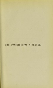 Cover of: The constitution violated