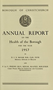[Report 1957] by Christchurch (Dorset, England). Borough Council
