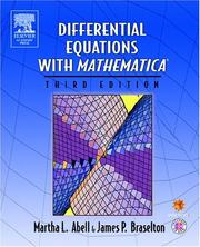 Cover of: Differential equations with Mathematica