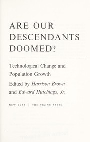 Cover of: Are Our Descendents | Harrison Scott Brown