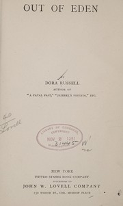 Cover of: Out of Eden | Dora Russell