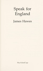 Cover of: Speak for England | J. M. Hawes