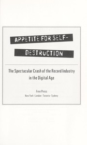 Cover of: Appetite for self-destruction