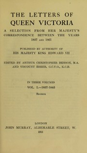Cover of: The letters of Queen Victoria
