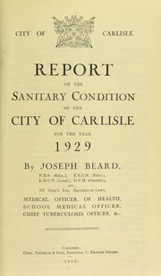 Cover of: [Report 1929]