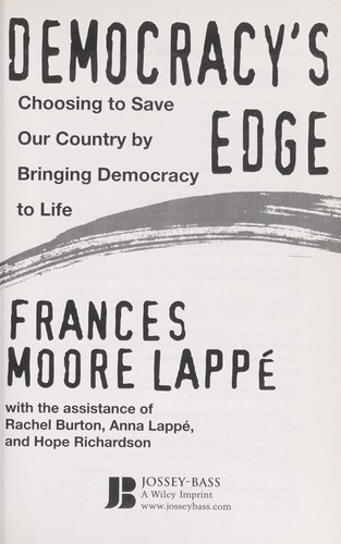 Democracy's edge by Frances Moore Lappé