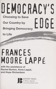 Cover of: Democracy's edge | Frances Moore Lappé