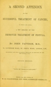 Cover of: A second appendix to the successful treatment of cancer
