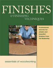 Cover of: Finishes & Finishing Techniques