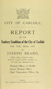Cover of: [Report 1928]