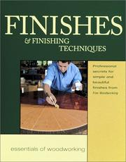 Cover of: Finishes and Finishing Techniques