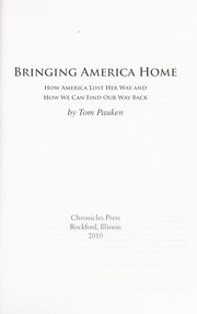 Cover of: Bringing America home