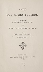Cover of: About old story-tellers