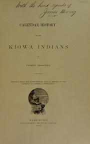 Cover of: Calendar history of the Kiowa Indians
