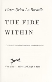 Cover of: The fire within