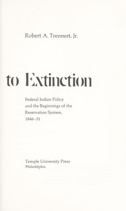 Cover of: Alternative to extinction