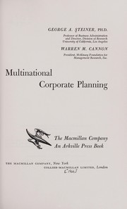 Cover of: Multinational corporate planning | George Albert Steiner