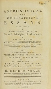 Cover of: Astronomical and geographical essays