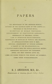 Cover of: [Papers on anatomy]