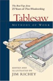 Cover of: Tablesaw Methods of Work