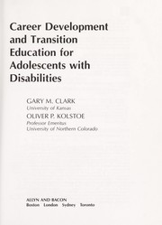 Cover of: Career development and transition education for adolescents with disabilities