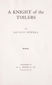 Cover of: A knight of the toilers