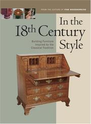 Cover of: In the 18th Century Style | Editors of Fine Woodworking Magazine