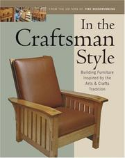 Cover of: In the Craftsman Style
