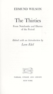 Cover of: The Thirties