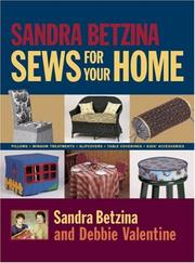 Cover of: Sandra Betzina Sews for Your Home