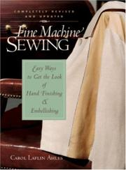 Cover of: Fine Machine Sewing