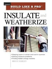 Cover of: Insulate and Weatherize