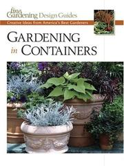 Cover of: Gardening in Containers