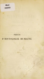 Cover of: Pr©♭cis d'histologie humaine