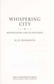 Cover of: Whispering city